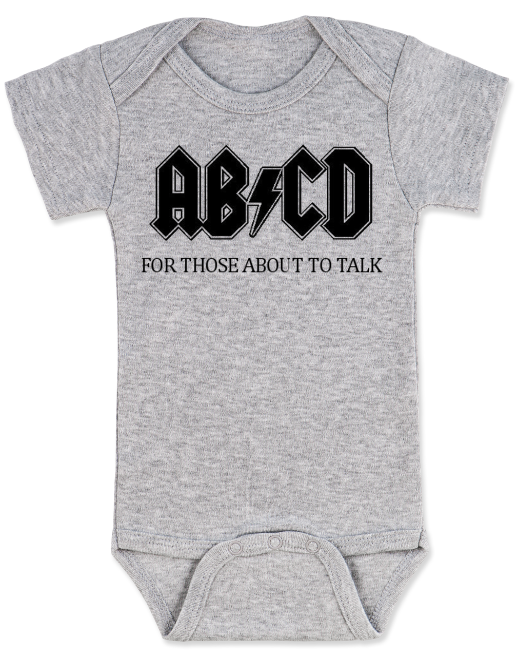 bfbbc7195 ABCD Rock   Roll Baby Bodysuit