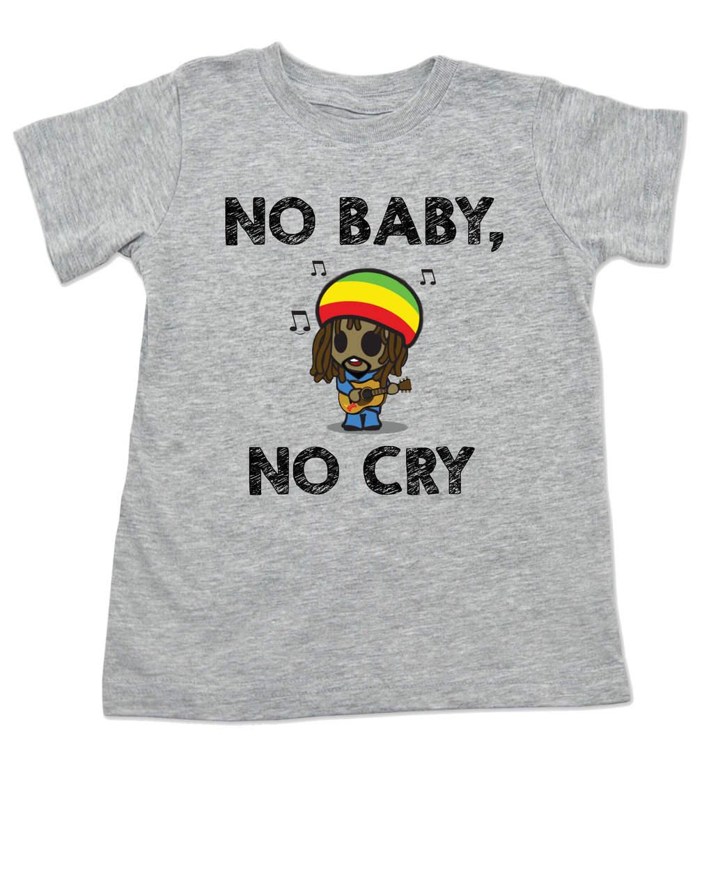 Bob Marley Toddler Shirt No Baby Cry Reggae Music Kid T