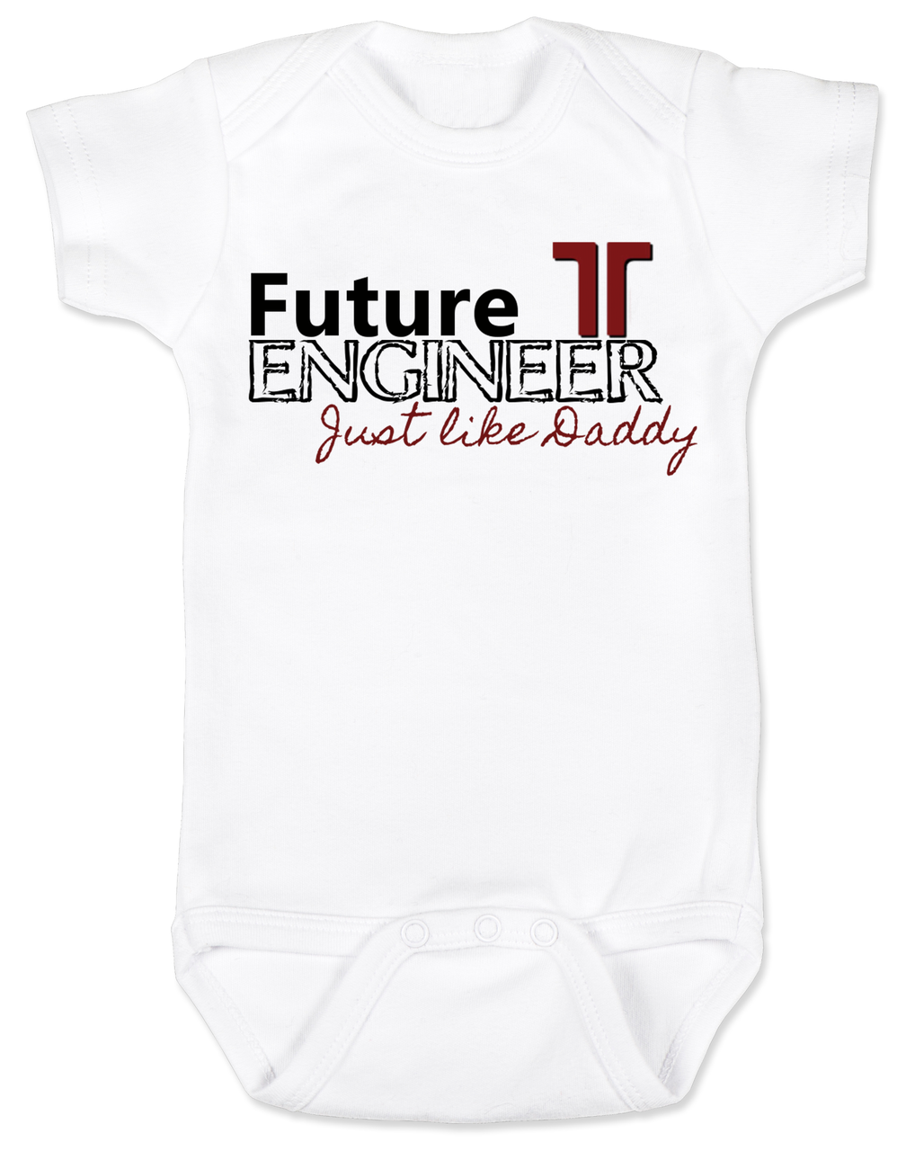 7ebf77a7b056 Future Engineer Personalized Baby Bodysuit