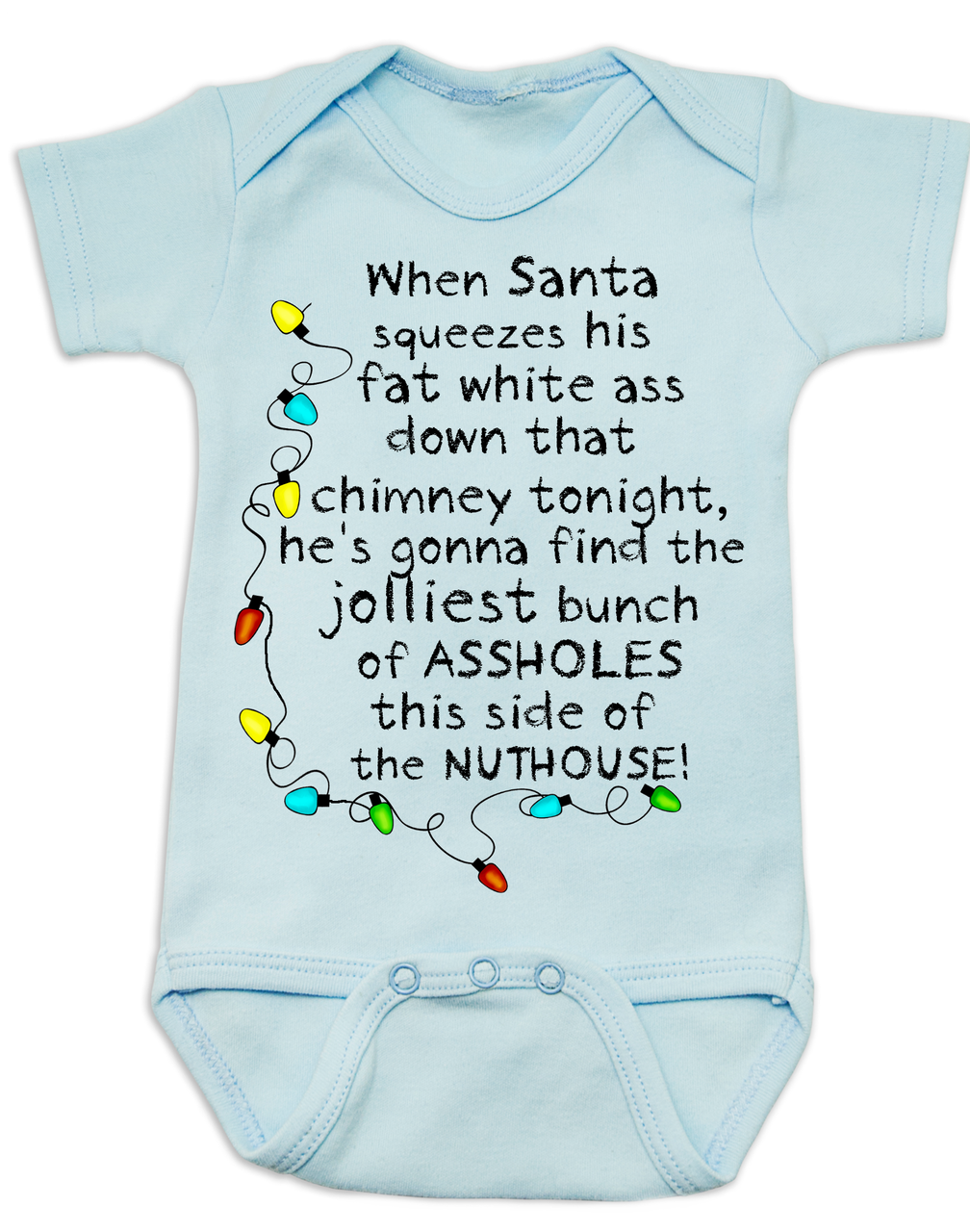 84a949776 This Side Of The Nuthouse Baby Bodysuit