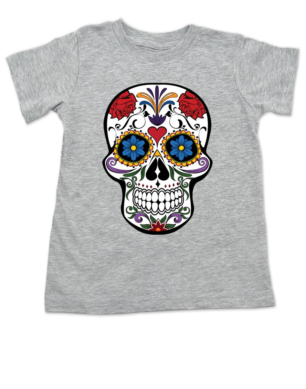 c311ca6777 Dia de los Muertos - Colorful Sugar Skull Toddler Shirt