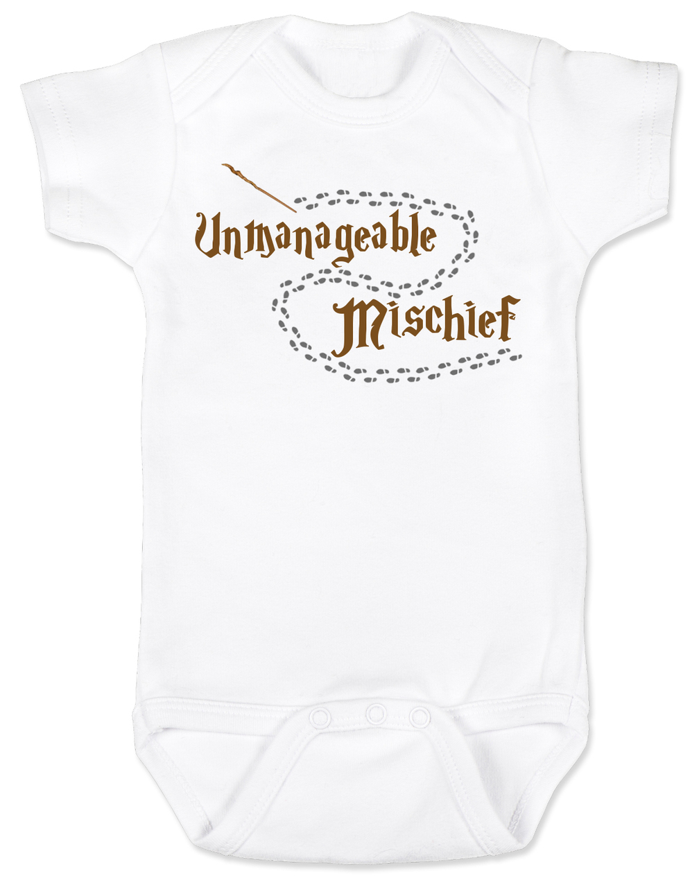 20682a1216d1f9 Unmanageable Mischief baby Bodysuit, funny harry potter baby Bodysuit, baby  gift for harry potter