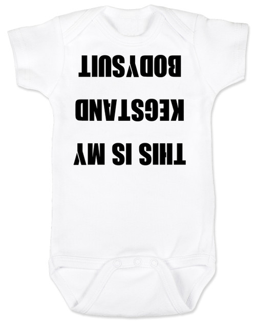 9ca80eb7b775a ... Kegstand Bodysuit, Inappropriate baby clothes, baby shower gag gift,  punk rock baby, ...