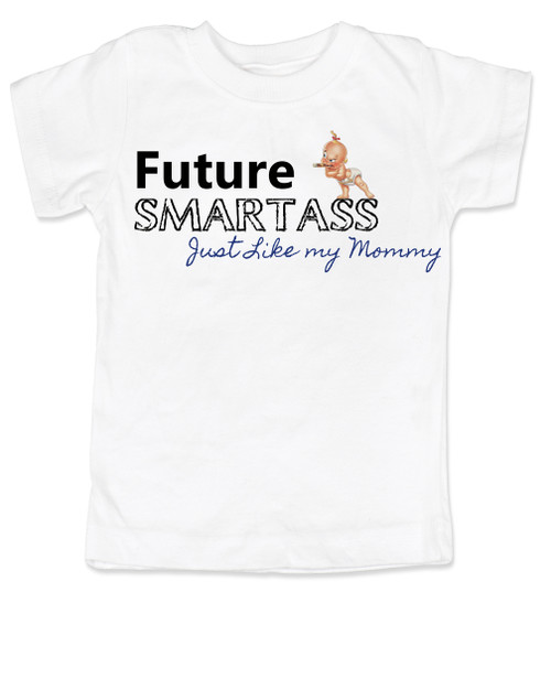 417b26e9 ... Future Smartass toddler shirt, Smart-ass Dad, Smart Ass Mom, Funny  parents ...