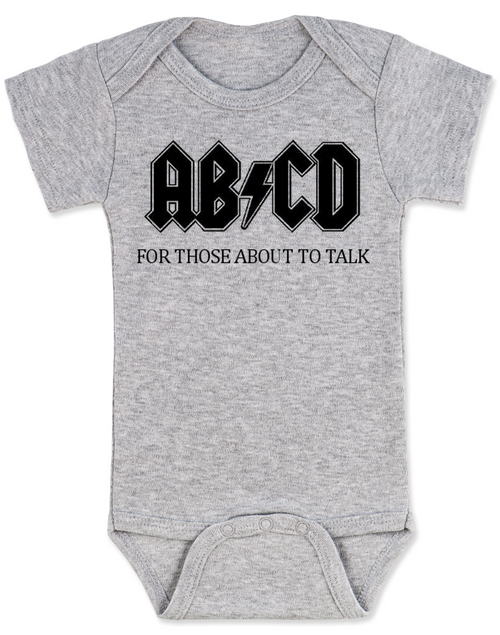 ROCK ACDC One Piece jersey Baby bodysuit I LISTEN to AC DC with MOMMY