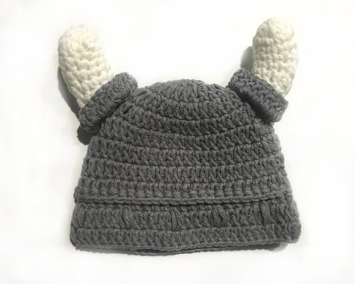 Viking Crochet Baby Hat