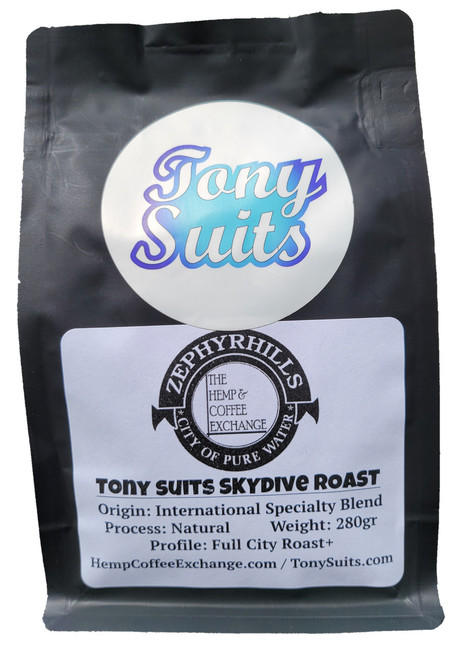 The Hemp and Coffee Exchange Tony Suits Skydive Blend