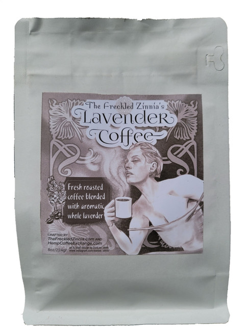 The Freckled Zinnia Lavender Coffee