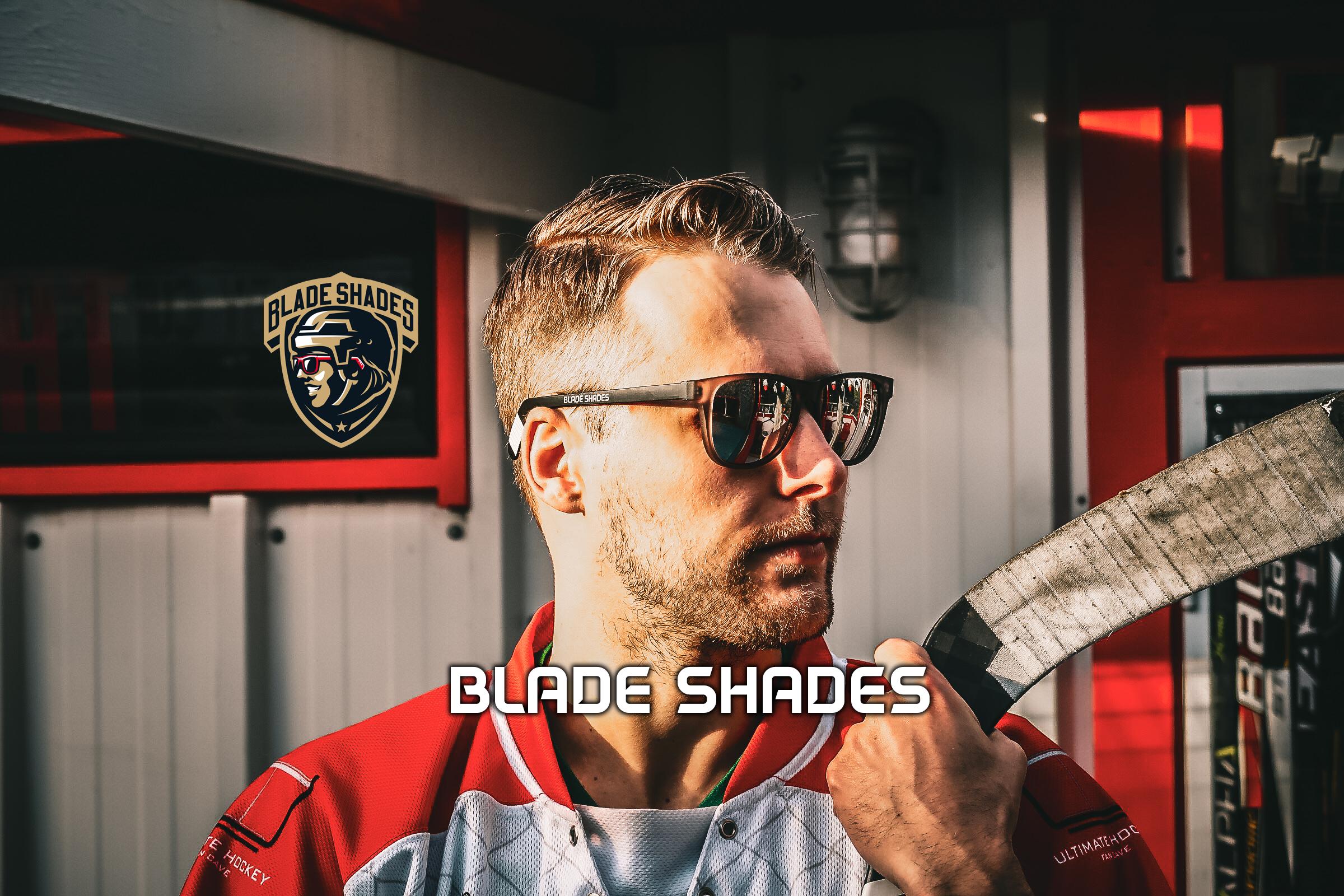 Blade Shades, hockey stick sunglasses, sunglasses, hockey,