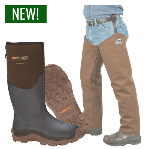 Dryshod's Haymaker Hi Boot with Waterproof Chaps by Dan's Hunting Gear | Windwalker Outdoors