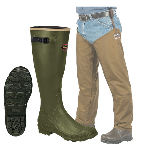 Non-Insulated Lacrosse Grange Knee Boot, Dans hunting gear frogleg with chaps