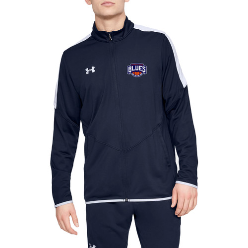 SBA Under Armour Men's Rival Knit Warm-Up Jacket - Navy