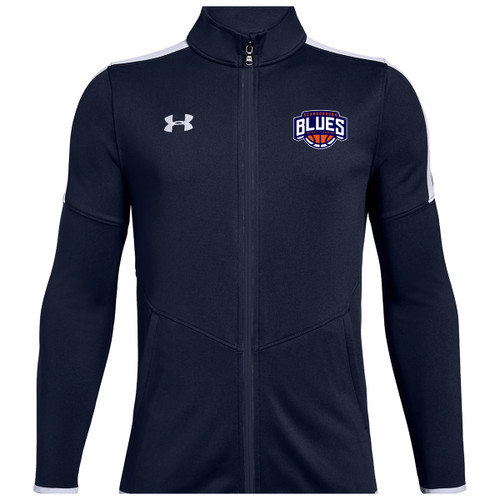 SBA Under Armour Youth Knit Warm Up Jacket - Navy
