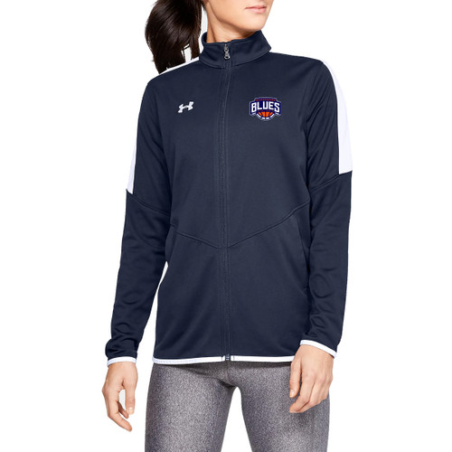 SBA Under Armour Women's Rival Knit Warm-Up Jacket - Navy