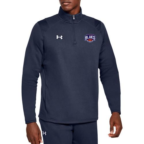 SBA Under Armour Men's Hustle Fleece ¼ Zip - Navy