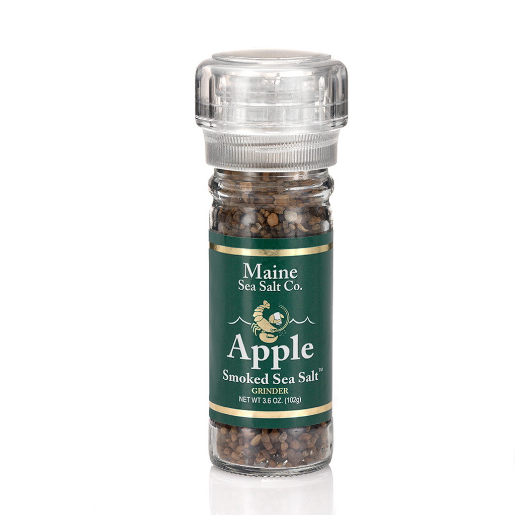 Apple Smoked Maine Sea Salt 3.6 oz Grinder, Case Of Six,