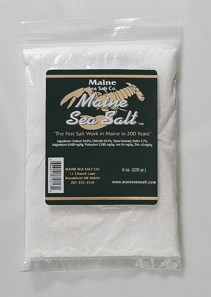 Natural Maine Sea Salt 1 lb bag CRYSTAL SIZE