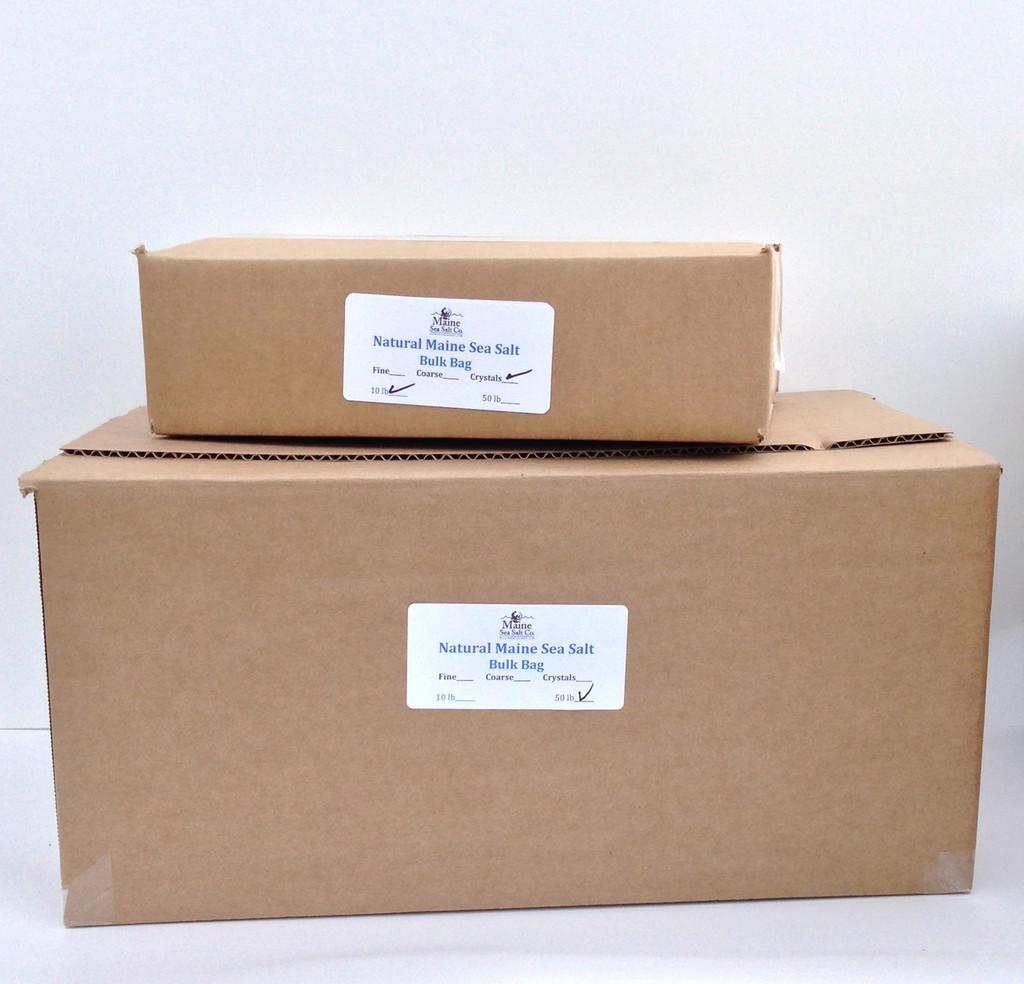 Natural Maine Sea Salt, Bulk 48 Pound Box  (Coarse)
