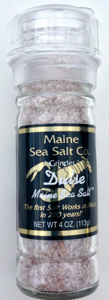 Dulse Seaweed Salt Blend, 3.6 oz grinder/Seaweed Seasoning. Wild Harvested Maine Coast, contains Iodine, Minerals, Vitamins. Palmaria Palmata. (Buy 2, Get 50% Off Second Grinder)