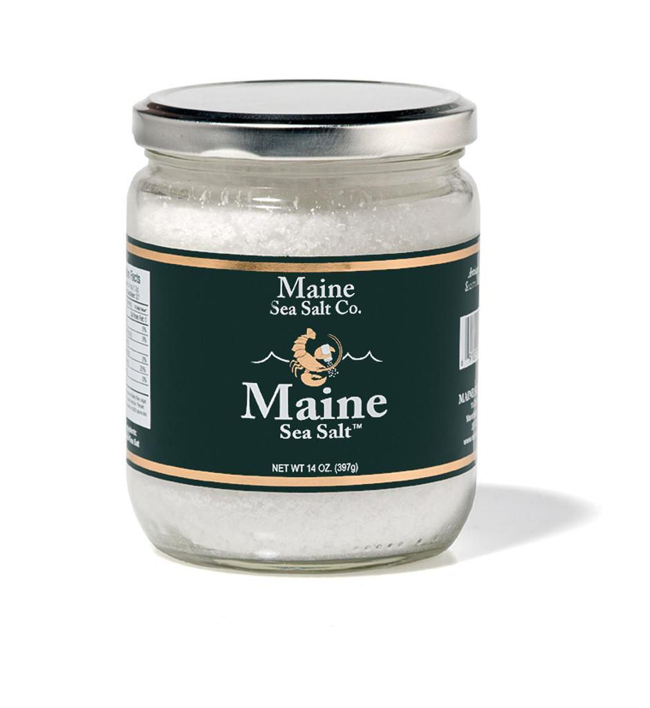 Maine Sea Salt   14 oz Jar  (Case Of Six) Coarse Sea Salt,