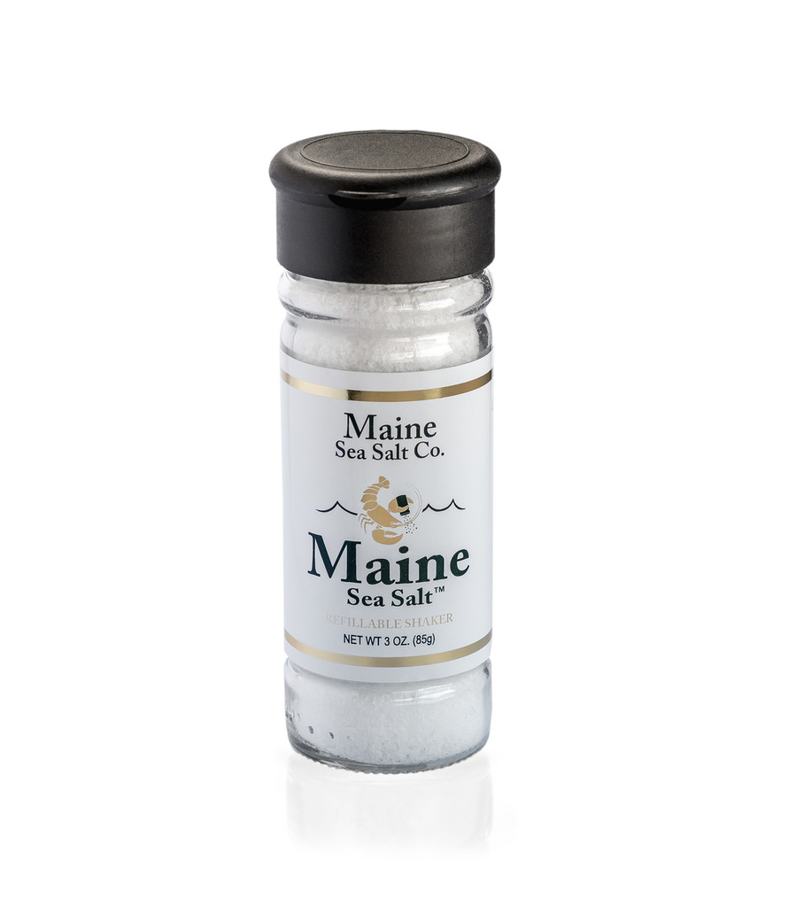 Maine Salt Shaker, 3 oz /6 to a Case  2.94 WT. Bulk Natural Sea Salt | Maine Sea Salt. Certified Kosher