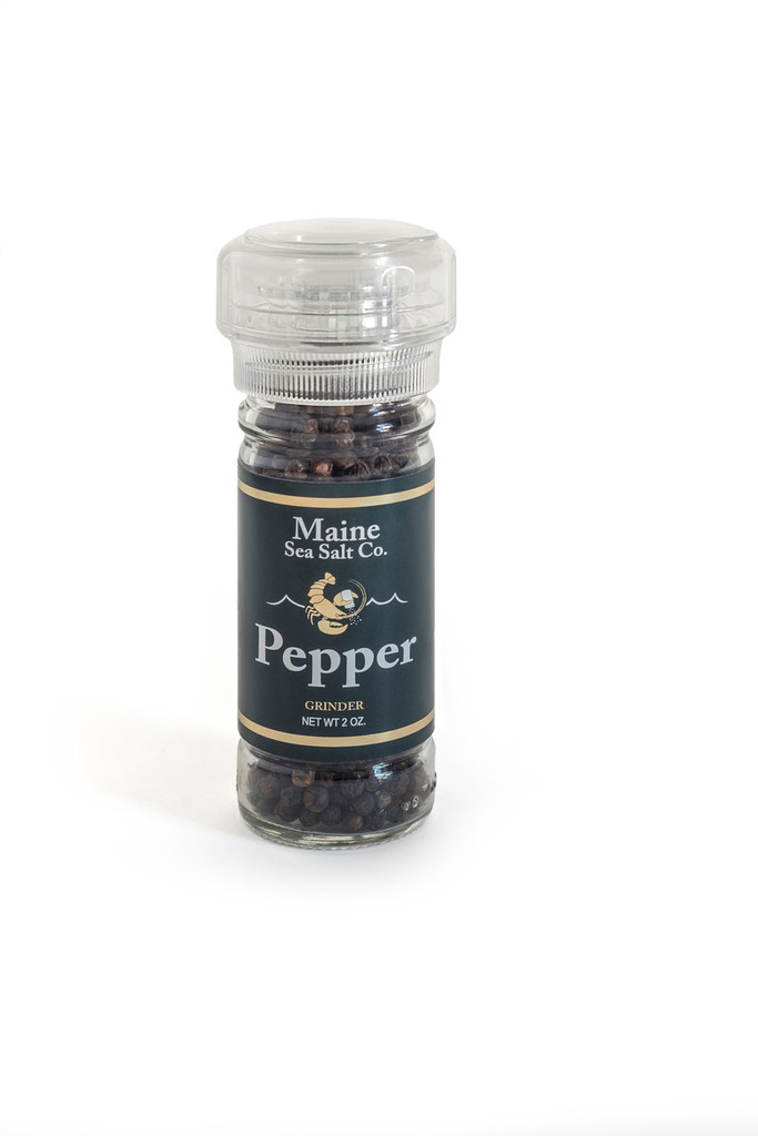 Black Peppercorn 2 oz Grinder. Organic Peppercorns From India.  .66 WT