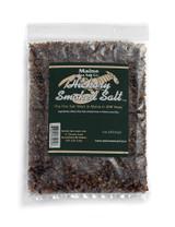 8 oz Bag, Hickory Smoked Maine Sea Salt.  Cool Smoked Over Hickory Fire.  .83 WT