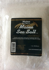 Natural Maine Sea Salt Bag  FINE SIZE 1 lb