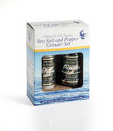 Maine Sea Salt & Peppercorn Grinder Set 3.6 oz and 2 oz Pepper Grinder  Six sets to a case.  10.45 WT