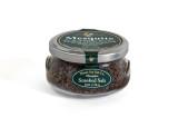 Mesquite Smoked Maine Sea Salt, 6 oz Gift Jar. Real Mesquite Marinate Salt.  .115 WT