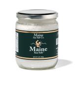 14 oz Jar, Maine Sea Salt  Fine Sea Salt.  [SIX TO A  CASE] 9.24 WT Certified Kosher