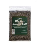 Mesquite Smoked Maine Sea Salt, 8 oz Bag, 6 to a case.  3.24 WT