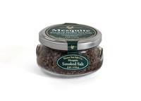 Mesquite Smoked Maine Sea Salt, 6 oz Gift Jar, six to a case.
