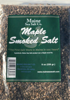 Maple Smoked Sea Salt, 8 oz bag. Smoke Candy for, fish, Pork, Poultry.