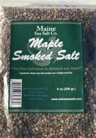 Maple Smoked Maine Sea Salt, 8 oz bag. Smoke Candy for, fish, Pork, Poultry.