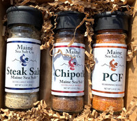 Maine Salt Shaker, Steak Salt, Chipotle, and PCF