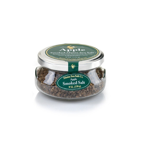 6 oz Gift Jar, Apple Smoked Maine Sea Salt  [SIX TO A CASE] 4.63 WT