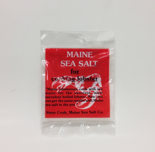 "Maine Sea Salt ""For Cooking Lobster""  [500 PER CASE] 36. WT"