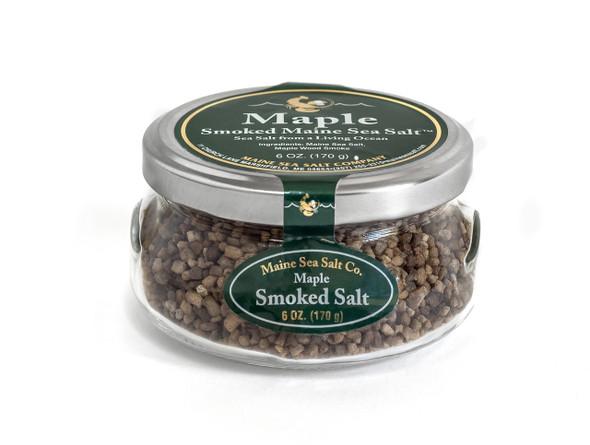 6 oz Gift Jar, Maple Smoked Sea Salt,  [SIX TO A CASE]  4.63 WT