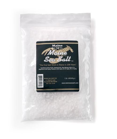 8 oz Bag, Natural Maine Sea Salt, COARSE SIZE.  .83 WT  Certified Kosher