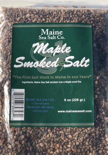 8 oz bag, Maple Smoked Sea Salt, [SIX TO A CASE]  3.29 WT