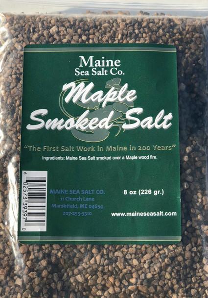 8 oz bag, Maple Smoked Sea Salt, Smoke Candy for, fish, Pork, Poultry.  8 3 WT