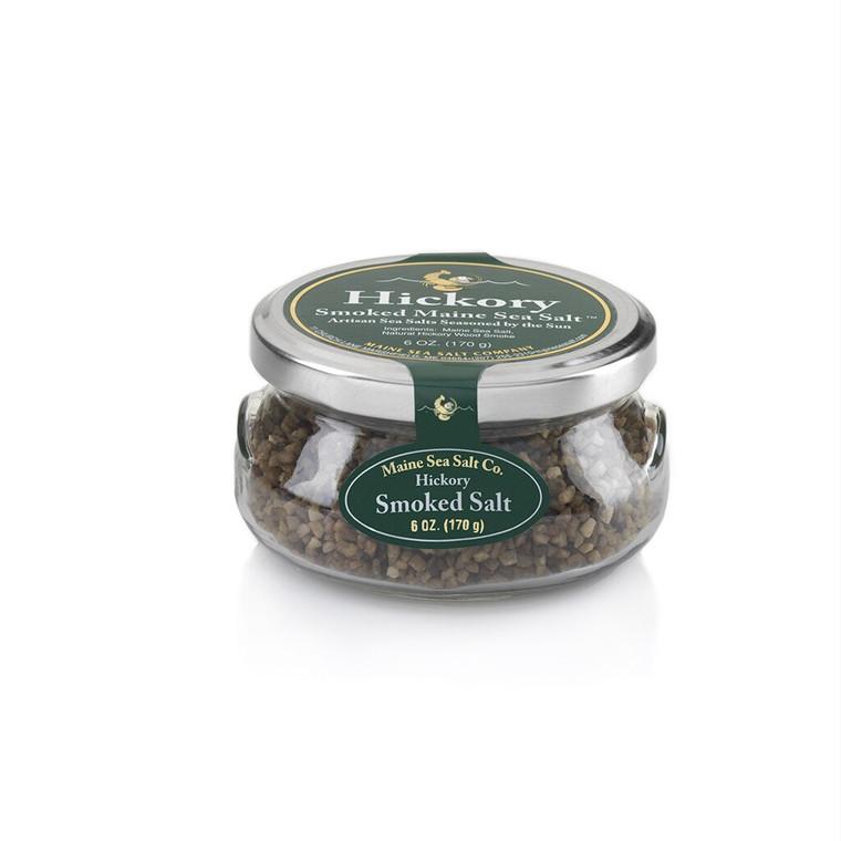 Hickory Smoked Maine Sea Salt 6 oz Gift Jar, Case Of Six.  4.63 WT