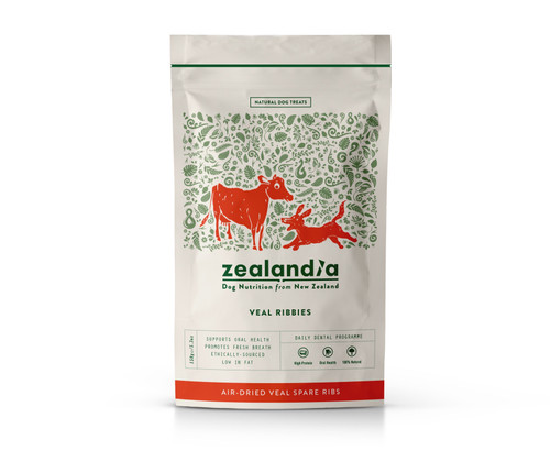 Zealandia Veal Ribbies Natural Dental Dog Treats 150g