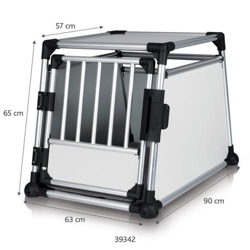 Aluminium Transport Dog Crate - M-L