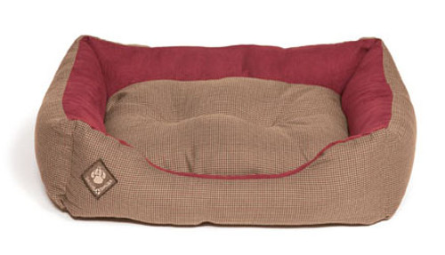 Heritage Houndtooth Snuggle Dog Bed