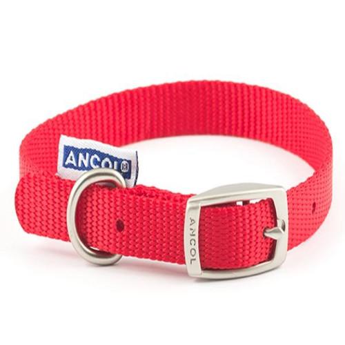 Ancol Nylon Collar Red 20 Inch
