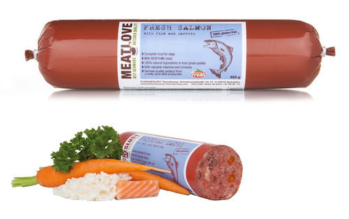 Meat Love Fresh Salmon with Rice and Carrots 800g