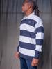 White/Navy Rugby Stripe Jersey