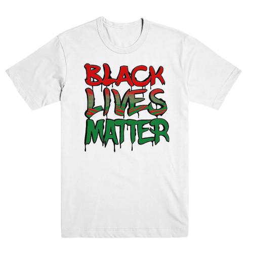 Black Lives Matter White RGB Tee  #BlackLivesMatter Mural Design by Alex DeLarge, Co-founder of Southern Tiger Collective based in Charlotte, NC.  Mural Location:  @ NoDa Deli - 1721 North Davidson St. Charlotte, NC 28206